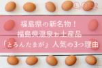 福島県の新名物!福島県温泉お土産品「とろんたまが」人気の3つ理由