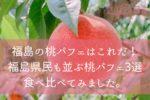 福島の桃パフェはこれだ!福島県民も並ぶ桃パフェ4選食べ比べてみました。